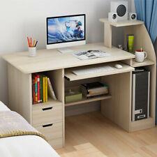 New Home Office Computer Table Laptop Keyboard Study Desk Furniture Shelf