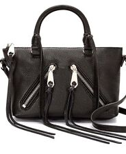 NWT Rebecca Minkoff Black Leather Micro Moto Crossbody Shoulder Bag Retail $195