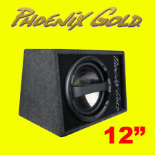 """Phoenix Gold Z Series Z112AB V2 12"""" 320W Powered Active Ported Wedge Subwoofer"""