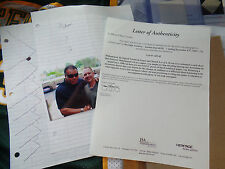 Muhammad Ali Signed JSA LOA practice DOODLES Autograph Auto James Spence letter