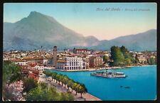 AX0575 Riva del Garda (TN) - Arrivo del piroscafo - Cartolina postale - Postcard