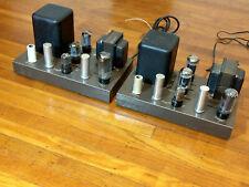 New listing Pair Eico Hf-22 Tube Mono Block Power Amplifiers - Work & Look Great