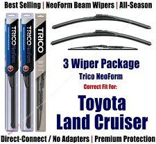 3pk Wipers NeoForm Front + Rear fit 1993-1997 Toyota Land Cruiser 16180x2/30160