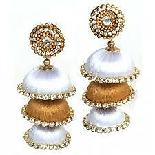 Beautiful designer silk thread Earring Jhumka (color can be customized