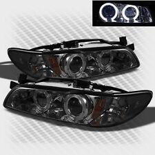 For Smoked 97-03 Pontiac Grand Prix Twin Halo Pro Headlights Sm Head Lights