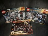 Lego Lord Of The Rings And Hobbit Empty Boxes and Instructions