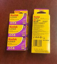 Fresh & Sealed packages of Kodak Gold 200 36 Exp. Film 3 Pack/6 Rolls of 36 Exp.