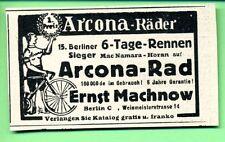Arcona Räder -- Berliner 6 Tage Rennen -- Mac Namara Horan -- Werbung - 1926 -