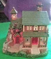 VINTAGE Miniature House  Resin