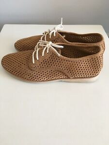 Rollie Derby Punch Tan Shoes Size 39