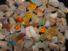 50 carat Ethiopian Welo Opal Rough Lot rainbow flashy avg piece is 4 to 6 carats