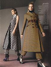 PUBLICITE ADVERTISING  2012  PRADA  collection manteau hiver