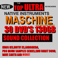 30 DVD'S 130 GB For NI Maschine & Mikro SAMPLER NEW PRESET SAMPLES 1.8 mk1 mk 2