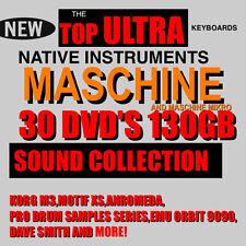 30 DVD'S 130 GB For NI Maschine & Mikro SAMPLER NEW PRESET SAMPLES 1.8 mk1 mk 2
