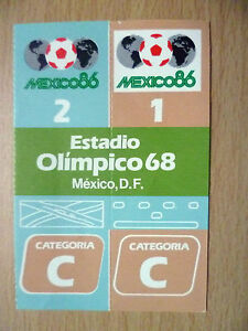 Ticket 1986 World Cup in Mexico at Olimpico 68 Mexico, D. F.