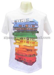 Mens Vintage White Sexy Tshirt Punk Pop Retro Cassette Audio Tape Indie T-shirt