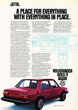 1981 Volkswagen Jetta VW - place - Classic Vintage Advertisement Ad A99