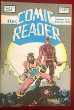 COMIC READER #212 fanzine (1983) Mike Mignola Shang-Chi & Daredevil, Black Cat
