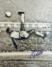 Pele Signed 11x14 Photo Soccer Bicycle Kick - Autographed BAS Beckett COA