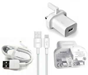 Genuine Huawei Mains Charger Plug Or Micro USB Cable For Honor 10 Lite / 20 Lite