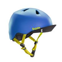 Bern Nino Matte Blue Flip Visor BMX Bike Skate Helmet Youth Junior Size XS/S
