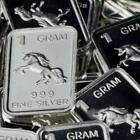 Lot 30 X 1 Gram  .999  Fine Silver Bar Bullion  / Pegasus     L5WPT379 oz
