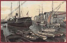 NAPOLI CITTÀ 187 PORTO - BARCA BARCHE Cartolina viaggiata 1910