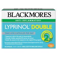 * BLACKMORES LYPRINOL DOUBLE ANTI-INFLAMMATORY 30 CAPSULES GREEN MUSSEL