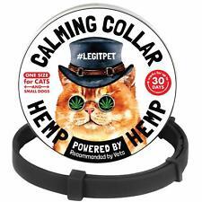Legitpet Cat Calming Collar with Hemp - Reduce Cat Stress with Natural Pherom.