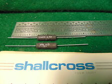 (2) SHALLCROSS .05 OHM 1% Fixed 6.5 WATT CERAMIC SHUNT RESISTOR NIB NOS
