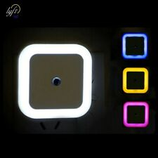 Wireless Sensor LED Night Light EU US Plug Mini Square Night Lights For BabyRoom