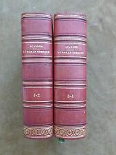 SCARRON. LE ROMAN COMIQUE. DAUTHEREAU.1828. en 4 tomes. veau rouge orné