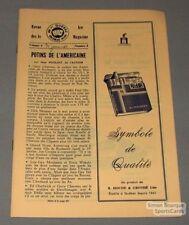 1964-65 AHL Quebec Aces official Program