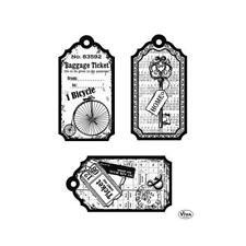 Viva Decor juego de sellos de silicona transparente A5-Etiquetas Bicicleta #120