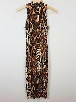 LUX LOS ANGELES | Womens Leopard Print Bodycon Dress [ Size S or AU 10 / US 6 ]