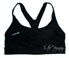 Nabaiji 34AB Small Black Racerback Lined Foam Cups Wire Free Sports Bra