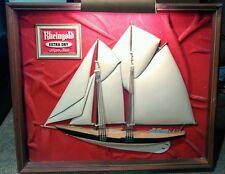Vintage Ship Geniune Rheingold Extra Dry Beer Framed Shadowbox working Light BG