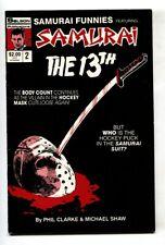 Samurai Funnies #2 1st appearance Jason Vorhees in comics 1987 VF