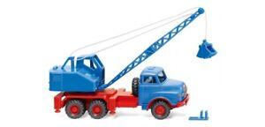 Wiking 066206 - 1/87 Camion Grue ( Man / fuchs ) - Bleu Ciel - Neuf