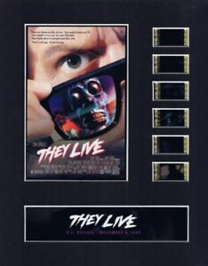 They Live (1988) Authentic 35mm Movie Film Cell 8x10 Matted Display - w/COA