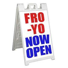Fro-Yo Now Open Signicade 24x36 Aframe Sidewalk Sign Banner Decal Frozen Yogurt
