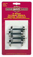 G 24.5 SMALL METAL WHEEL SET (4)      BAC92422   NIB NEVER OPENED