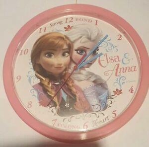 Elsa Frozen Girls Pink Clock