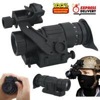 Day & Night Vision Optical Monocular Hunting Camping Hiking Telescope For Helmet
