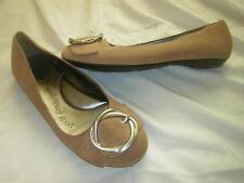"""DR. SCHOLL'S (SCHOLLS) """"Graduate"""" Suede Office Flats Shoes Brown Women's sz 5 M"""