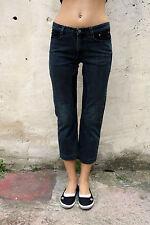 SIVIGLIA 3/4 Pirate Sport Dark Blue Denim Jeans Hose Stretch W29 Uk12 Italien