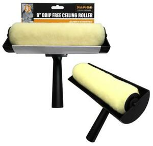 """New 9"""" Rapide Large Professional Drip-free Ceiling Roller Paint Guard Brush Tool"""