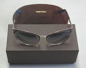 Tom Ford Sunglasses Nina TF373 TF 373 01B Black Multi Grey NEW! 32793