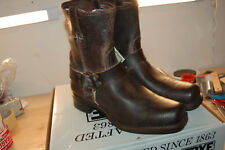 NIB Frye Harness 8R Boots Mens Chocolate Waxed Suede USA Made size 11 Med $418