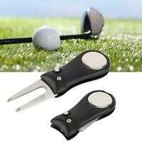 Golf Club Ball Putting Stainless Steel Green Divot Fork Repair Tool Lawn HS1 New